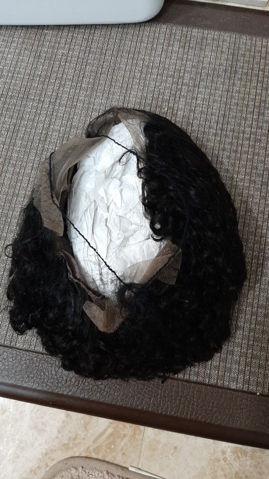 Apliques com cabelo humano Peruca Mulheres Natural