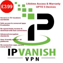Renews Subscription Ipvanish Premium Lifetime 5-Simultaneous-Devices Up Warranty Automatically