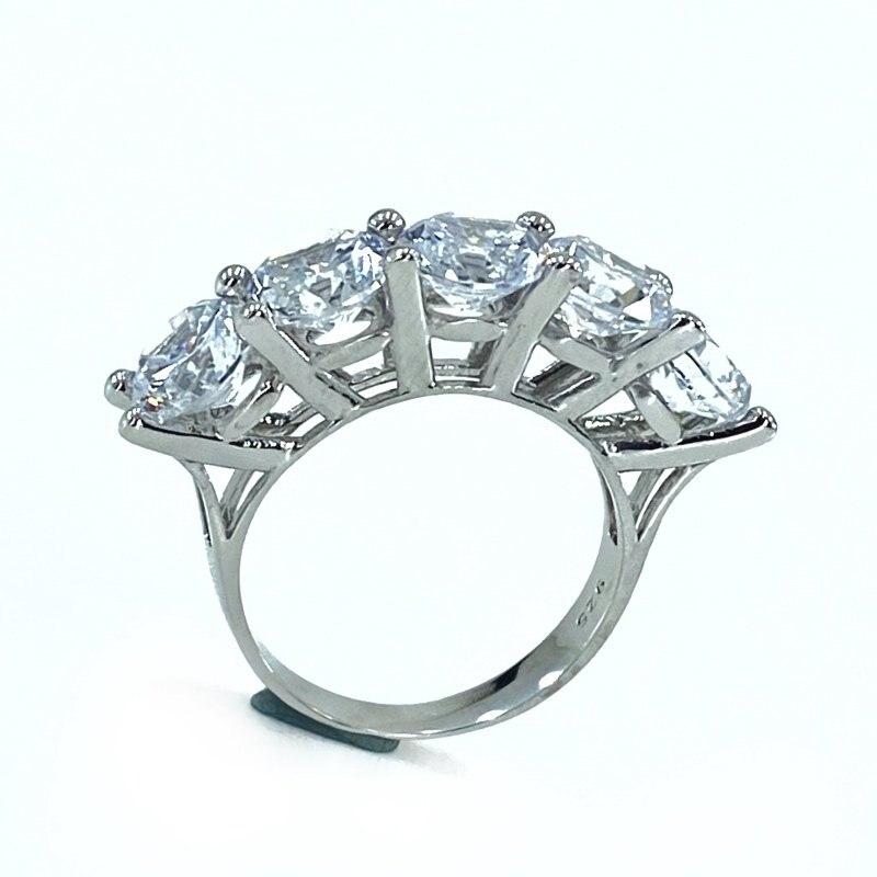 6 mm 4.50 quilates grande zircão cúbico zircônia dibs anel de prata