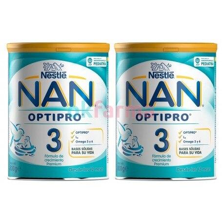 Duplo Nestle Nan 3 Optipro 2X800 GR