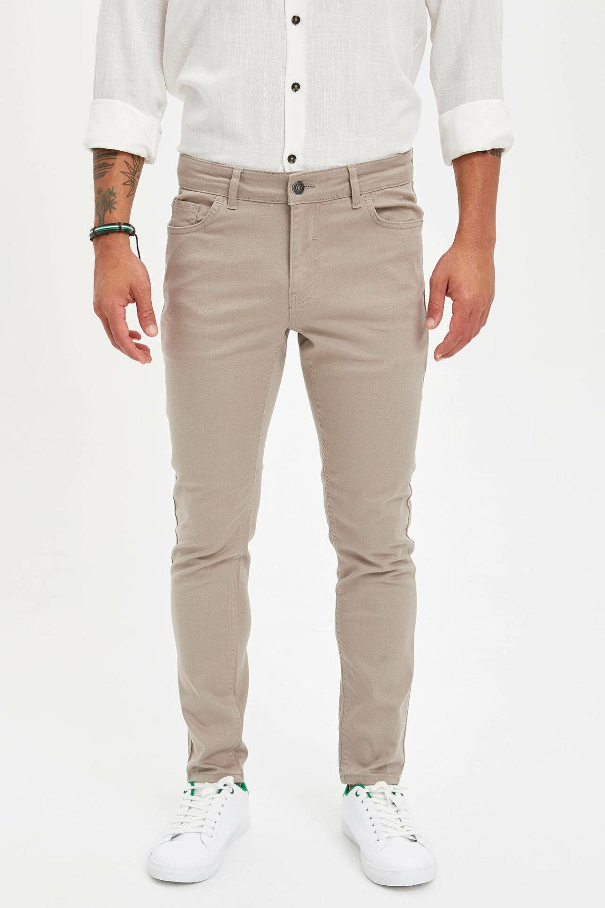 DeFacto Autumn Men Fashion Straight Long Pants For Men's Solid Simple Casual Loose Leisure Trousers Male New - L3222AZ19AU