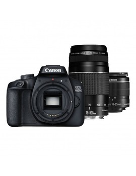 Canon EOS 4000D T100 DSLR Wi-Fi Camera with 18-55mm Lens & Canon EF 75-300mm F/4-5.6 III Lens Kit фото
