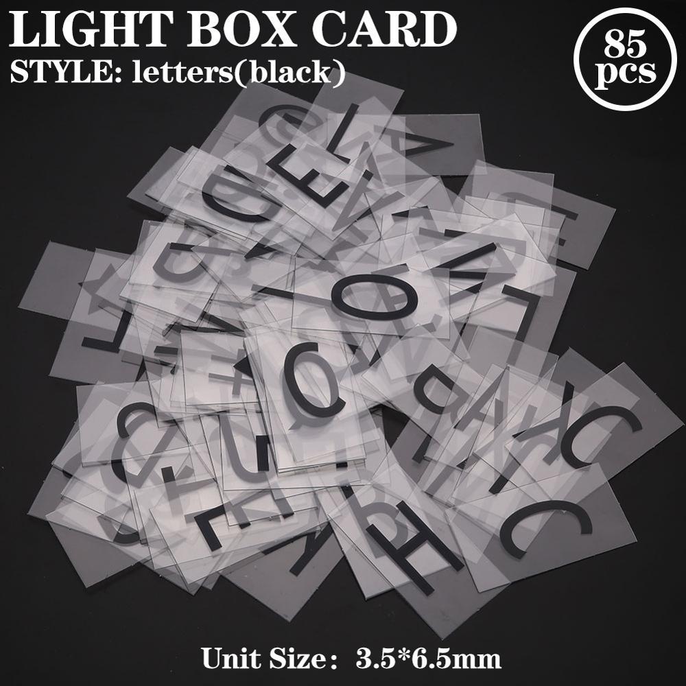 Светильник вые коробки A4 с буквами, 85 шт., светодиодный подарок, Вывеска «сделай сам», открытки, светящиеся буквы, Подарочная доска, сменная фотография