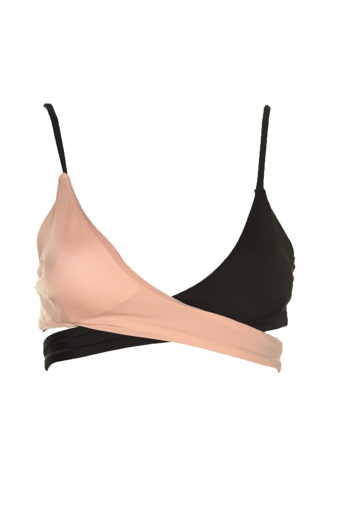 Trendyol With Color Block Wrap Bikini Top TBESS20BU0017
