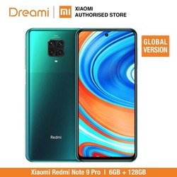 Перейти на Алиэкспресс и купить global version xiaomi redmi note 9 pro 6gb ram 128gb rom (brand new / sealed) redminote9pro, note9pro, smartphone mobile