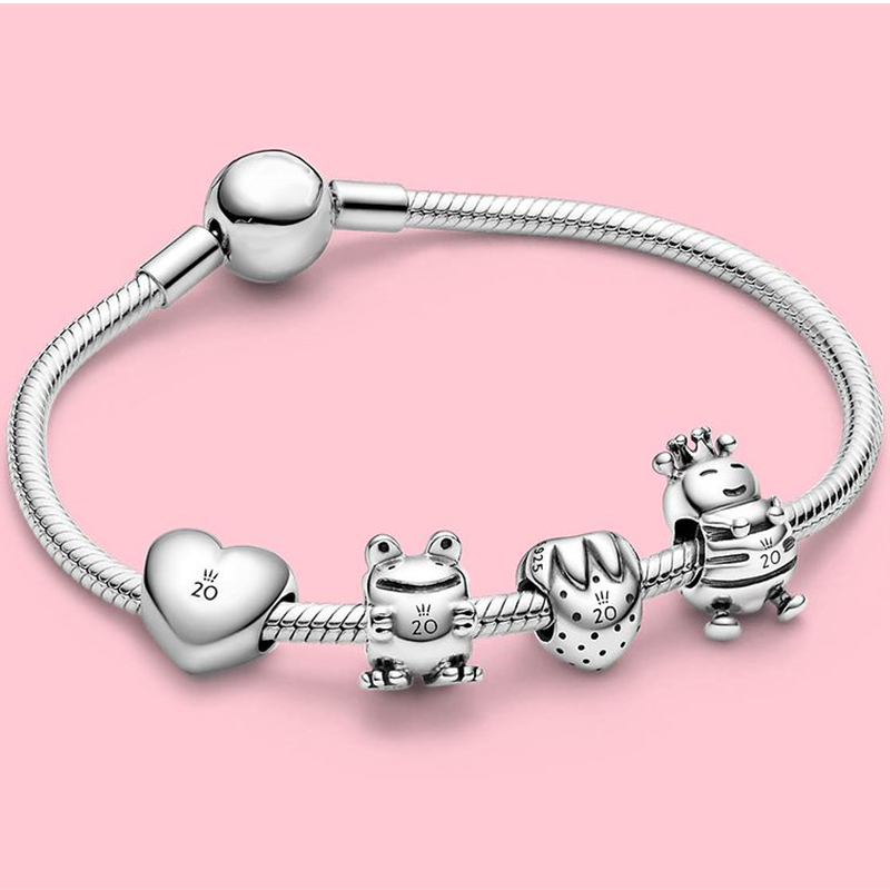 2020 New S925 Love Section Limited Edition20th Anniversary Frog, Bee,Strawberry Charm Diy Original Women Jewelry Classic Gift