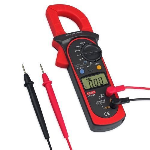 Clip Amperimetrica Uni-t UT202A 600 V DC/AC 600A DC/AC Autorango Include Case