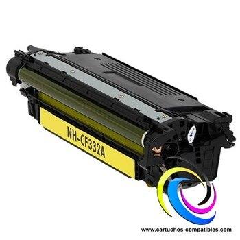 HP CF332A Yellow Toner compatible LaserJet Enterprise M650 M651dn M651n M651xh M651xhm CF330X CF331A CF332A CF333A