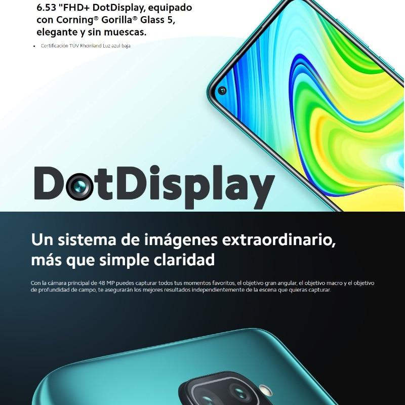 Xioami Redmi Note 9 (64GB, 3GB RAM, Cuatro cámaras y 48 MP, Android, Nuevo, Libre) [Teléfono Movil Versión Global para España]