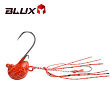 BLUX 20g 30g 40g DEEP CONTROL UP Tenya Madai Jig Kabura Saltwater Fishing Lure Jighead Lead Sea Boating Bait Shrimp Rubber Skirt