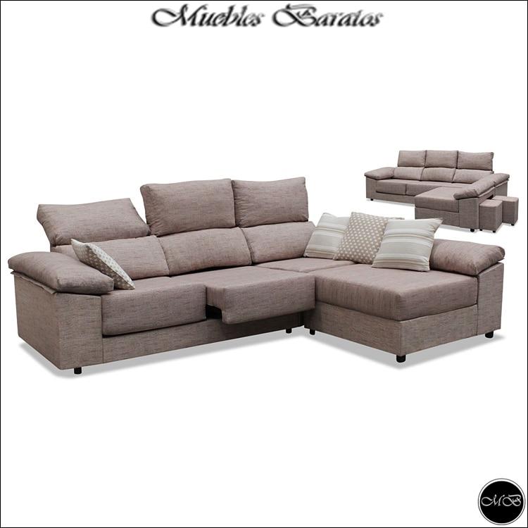 Sofa Chaise Longue  3 seats  Beige  ref 04|Chaise Lounge| |  - title=