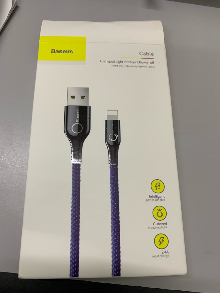 Baseus Intelligent Power off USB Charging Cable for iPhone X 8 6 breathing lighting USB Cable Automatic power off Charger Cable-in Mobile Phone Cables from Cellphones & Telecommunications on AliExpress