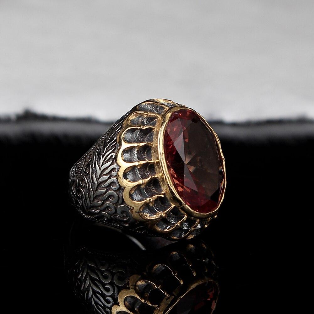 Мужское серебряное кольцо с зултанитом ручной работы, мужское серебряное кольцо 925 пробы, кольцо с зултанитом, Серебряное овальное кольцо с