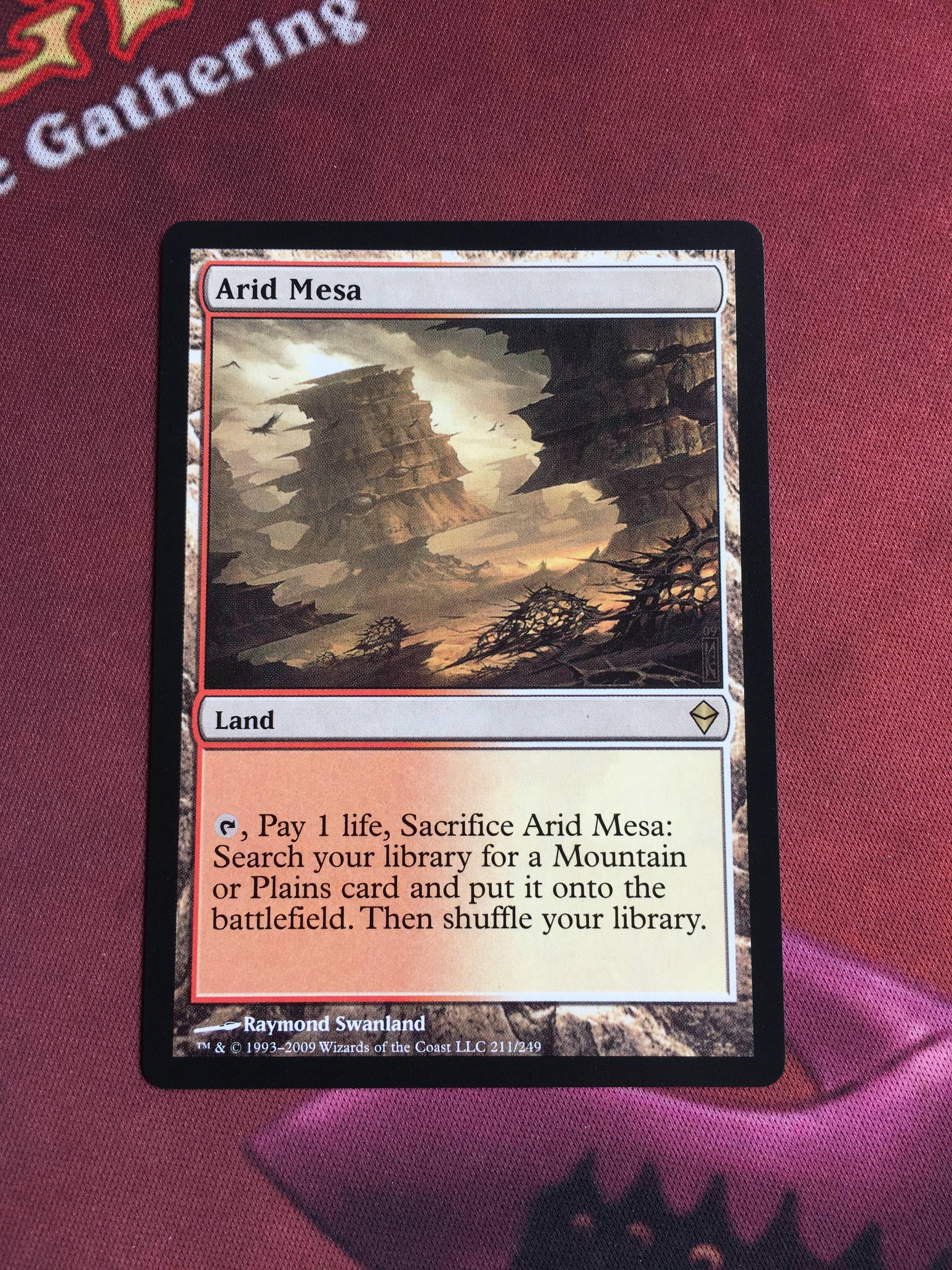 Arid Mesa Zendikar Magician ProxyKing 8.0 VIP The Proxy Cards To Gathering Every Single Mg Card.