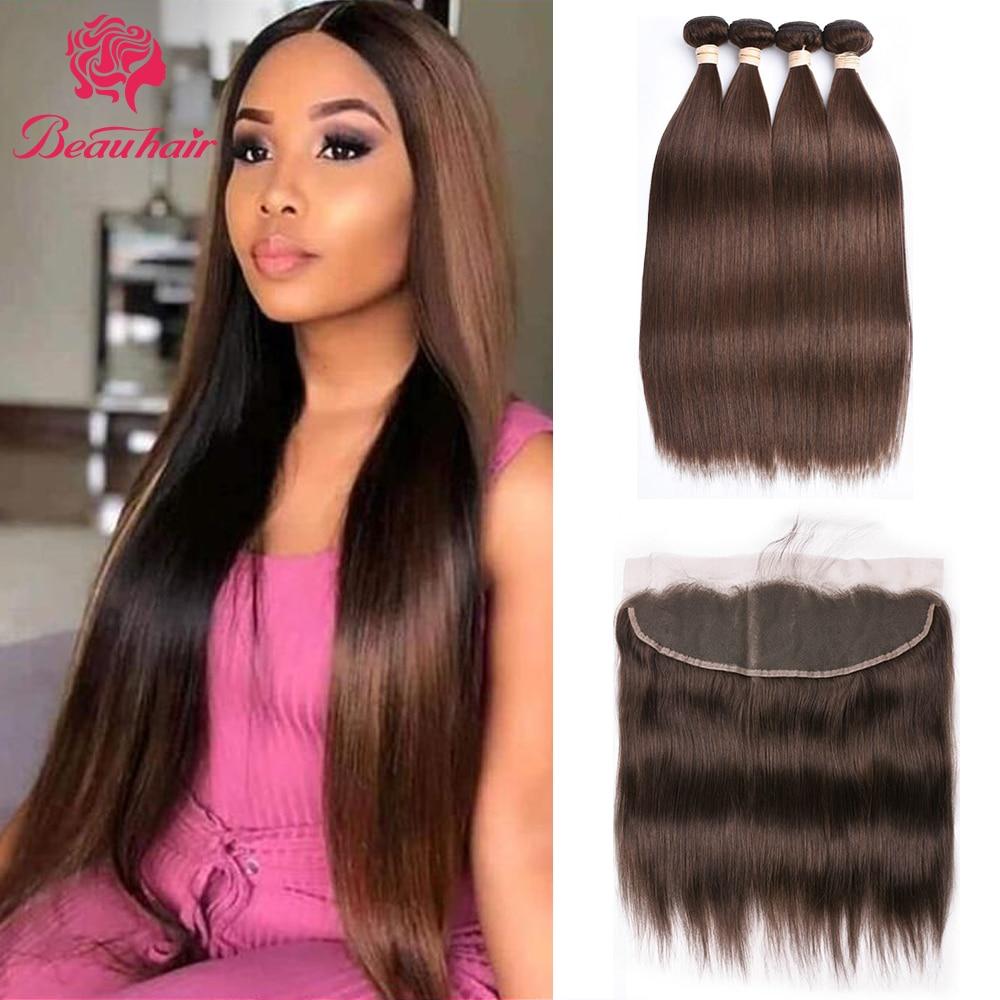 Malsysian Human Hair Bundles With Frontal Straight Frontal With Human Hair Bundles Hair Weaving Straight Human Hair Extensation