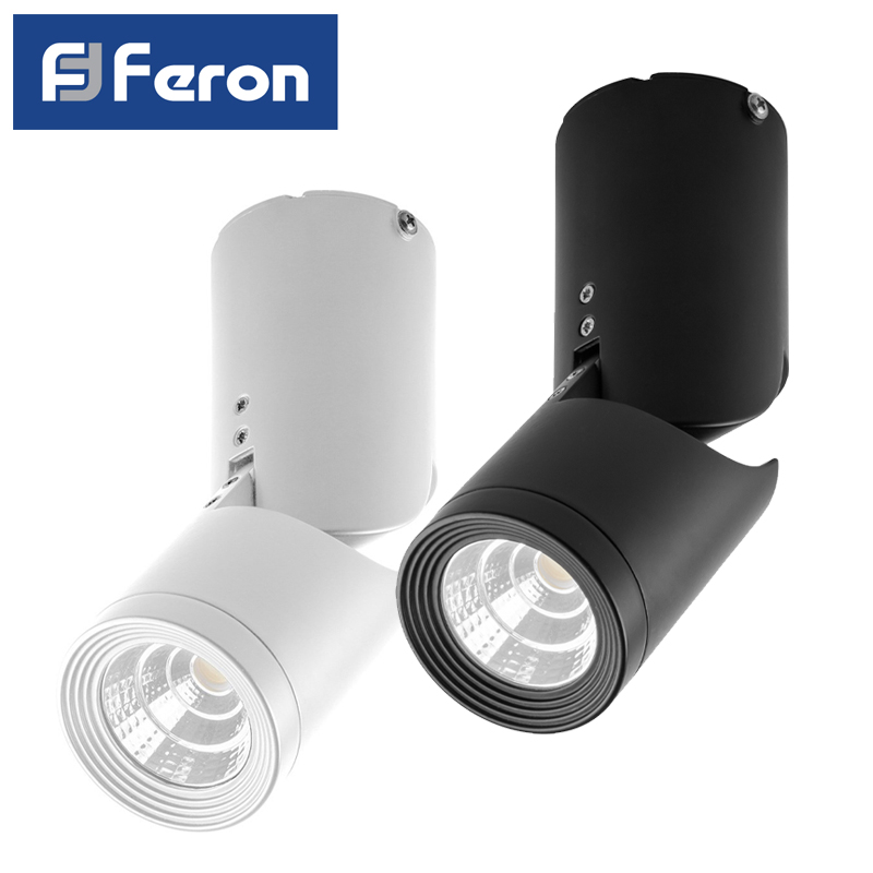 LED Downlight Feron AL517 patch 10W 4000K White Black inclined 29576 29889 ledron lip0906 10w y 4000k black
