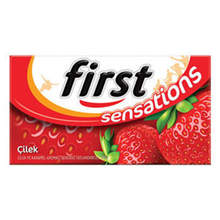 First Sensations Strawberry Flavored Gum 27 gr   FREE SHİPPİNG
