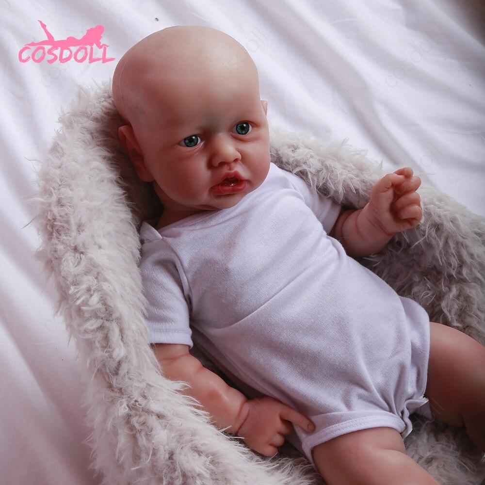 Новинка 57 см 4,7 кг новорожденный малыш лысая кукла открытый рот для детей игрушки малыш твердый Полный силиконовый тело озорная девушка кук...