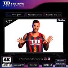 Televisores Smart TV 50 Pulgadas TD Systems K50DLJ11US. UHD 4K HDR, DVB-T2/C/S2, HbbTV [Envío desde España, garantía de 2 años]
