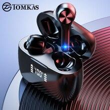 TOMKAS TWS kulaklıklar Bluetooth kulaklık gerçek kablosuz Stereo kulaklık kulak kulaklık kulakiçi kulaklıklar spor TWS Bluetooth kulaklık