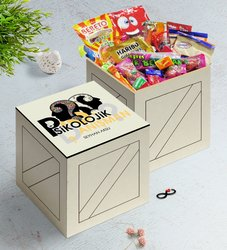 Personalized Psychological Counsellor In Wooden Box Nostalgic Lezzetler Gift Set