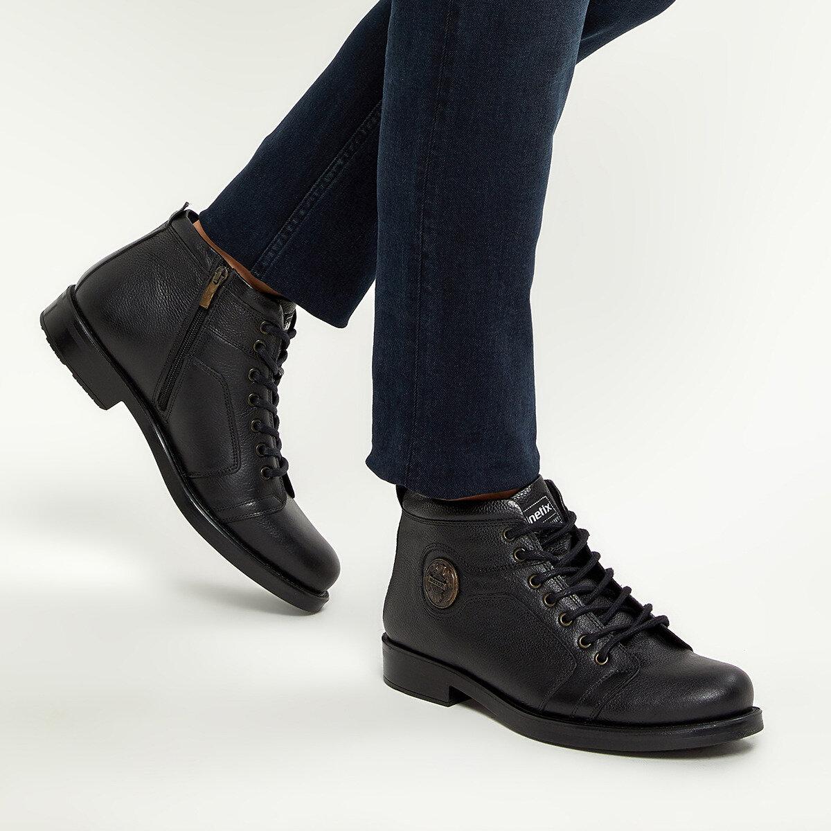 FLO KOMPAN Black Men Boots KINETIX