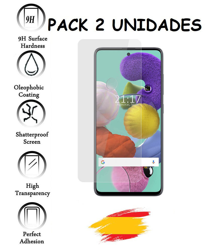 2X For SAMSUNG GALAXY A51 Tempered Glass Glass Protector Shockproof 9 H, 2 Units