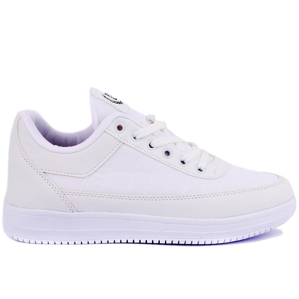 Pierre Cardin White Lace Up Women Casual Shoes|Women's Flats| |  - title=
