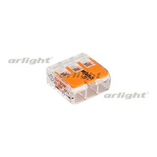 025720 Terminal 221-413 (3-wire 4mm) [Plastic] Box 50 Pcs ARLIGHT Led Tape Accessories/connection/...