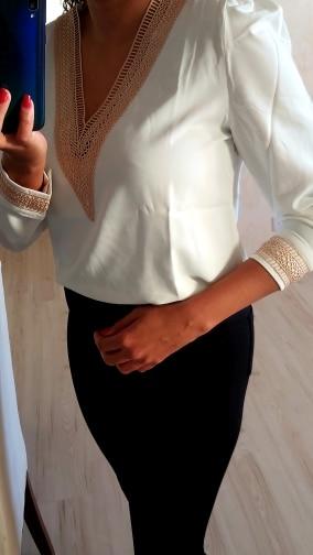 Long Sleeve White Blouse Tops Blouse Women Blusas Mujer De Moda 2021 Embroidery V-Neck Chiffon Blouse Shirt Women Blouses E226 photo review