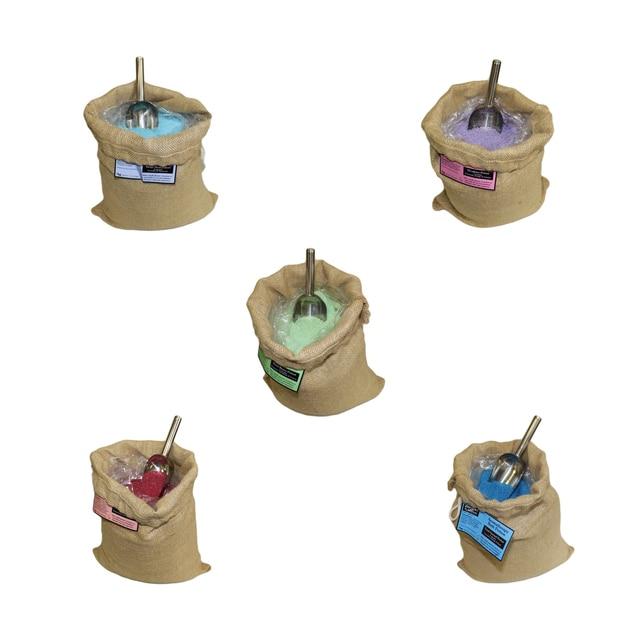 1kg bulk toilet bath salts various scents presented in stock exchange plastic with Close Zip