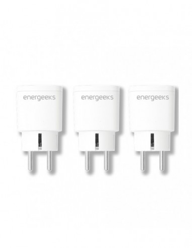 Pack Of 3 Sockets Wifi Smart Consumption Poke Energeeks EG-EW004MC
