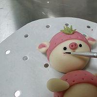 草莓猪&西瓜猪的做法图解19