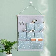 Multi-grid Hanging Sundries Storage Bags Waterproof Organizer Multipurpose Home Underwear Cosmetic Bag