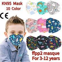 Mascarilla fpp2 de españa para niños, máscara de prevención con estampado de dibujos animados, diseño 3D, transpirable, protección, 1/50 Uds.