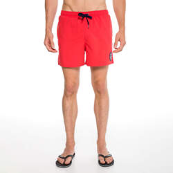 Routefield Vapo Red Mens Board Shorts Swimwear Swimming Beach Short Surf Pants Swimsuits Boardshorts