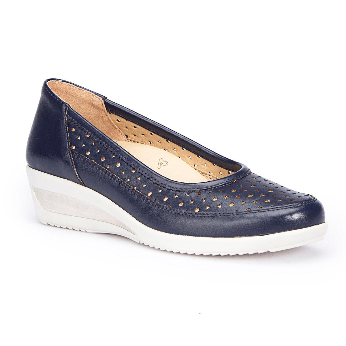 FLO 71.109622.Z Navy Blue Women 'S Wedges Shoes Polaris 5 Point