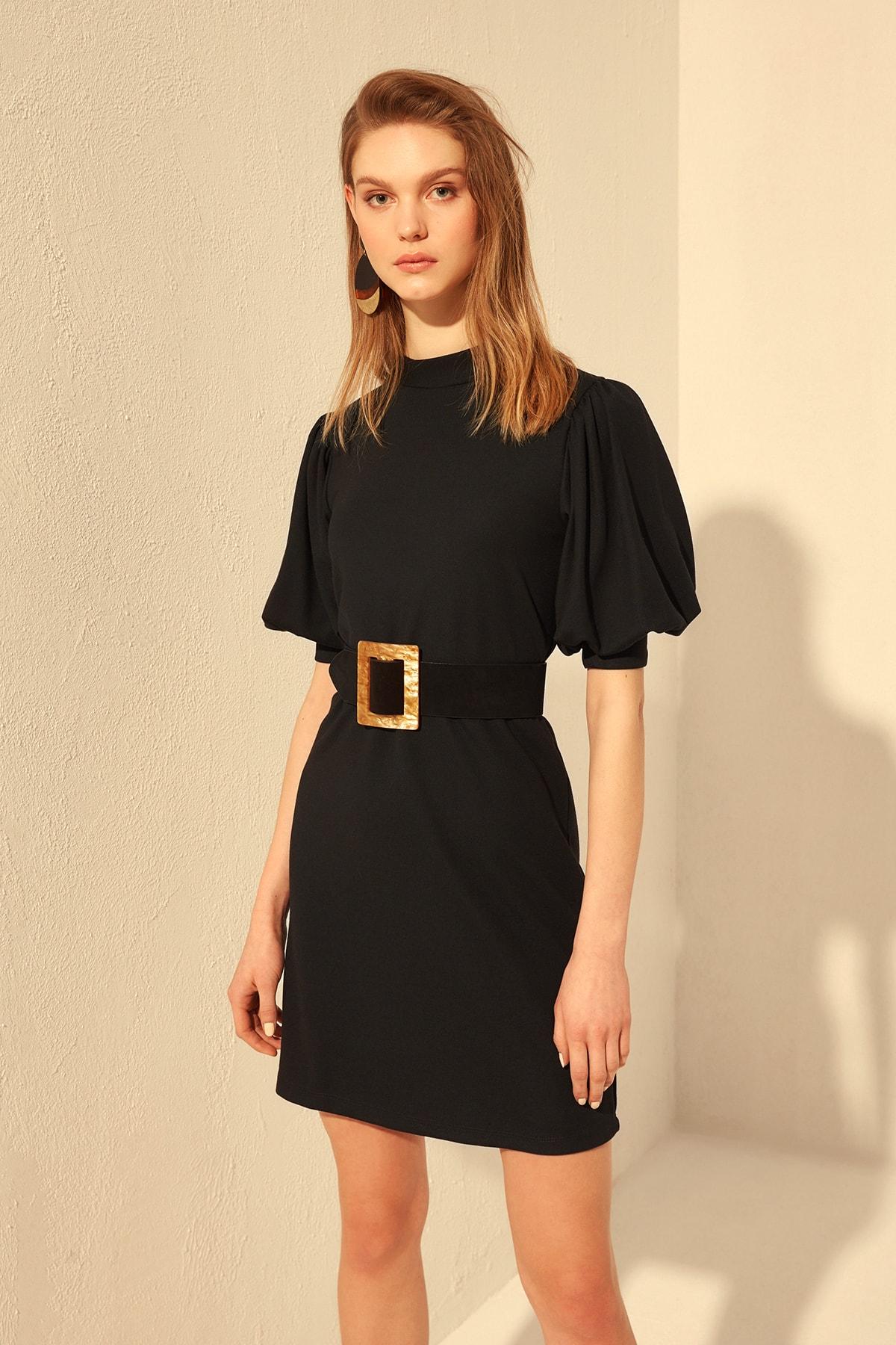 Trendyol Lacing Detailed Knit Dress TWOSS20EL0460