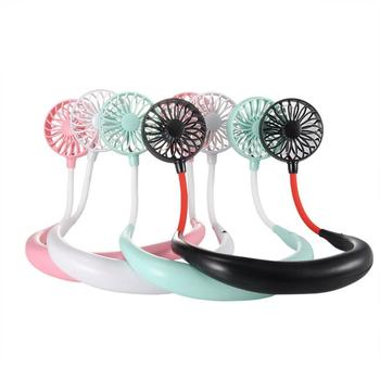 Portable Lazy Sports Fan Mini Hanging Neck Fan USB Rechargeable Air Cooling Fan Air Cooler Outdoor With Aromatherapy Fuction lazy sports hanging neck fan air cooler fan outdoor convenient usb charging creative student mini electric air cooling fan