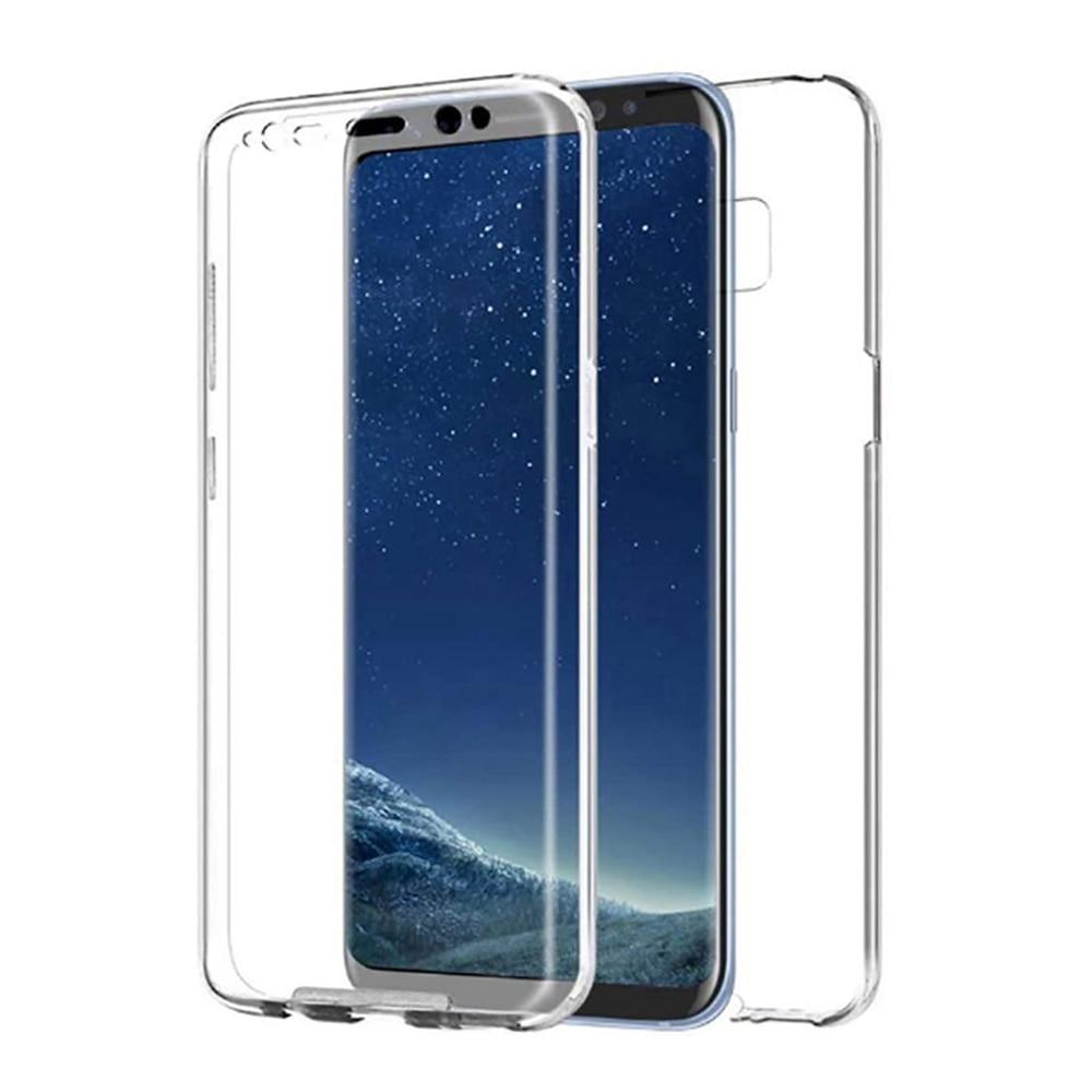 Двухсторонний силиконовый гелевый Чехол TPU + PC 360 ° Защита ультра тонкий жесткий чехол для Samsung Galaxy A7 (2018) (4G) 6
