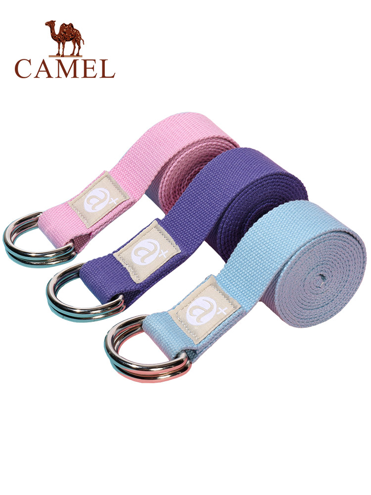 CAMEL Yoga Rope Stretch Strap Multi-Colors D-Ring Belt Fitness Exercise Gym Leg Resistance