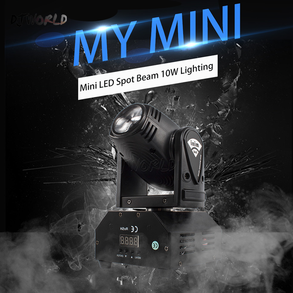 DJWorld LED 10W Moving Head Spot Luces Discoteca Stage Lighting Effect For Night Light DJ KTV Disco Beam Lights Very Professiona
