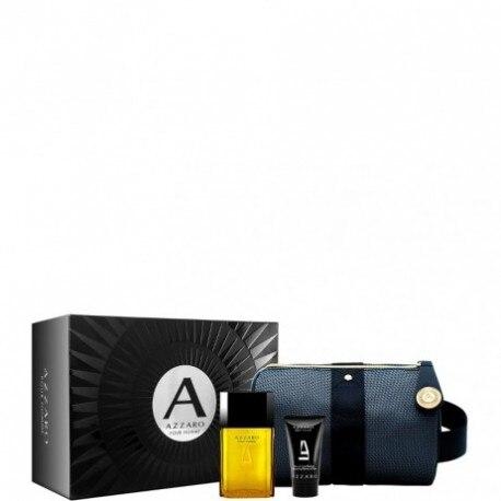 AZZARO HOMME EDT + SHOWER GEL 50ML + BAG