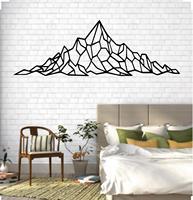 Metal Mountain Art  Metal Wall Art  Geometric Mountain Range  Metal Wall Decor  Office Decoration  Living Room Decor