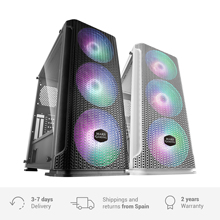 Mars Gaming MCEX, PC Gaming E-ATX box, PC tower with 3 RGB fans 14cm + Mesh front, white or black