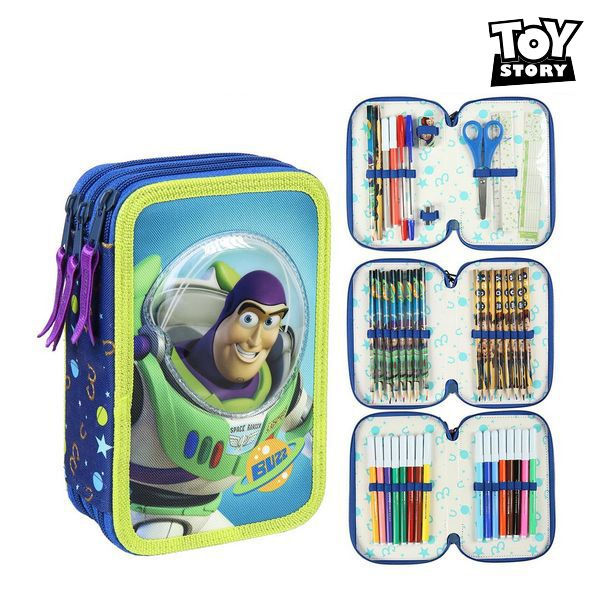 Triple Pencil Case Toy Story Blue