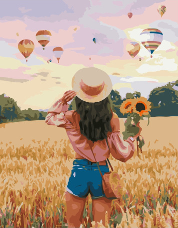 Painting By Numbers PK 38079 Watching Balloons 40*50