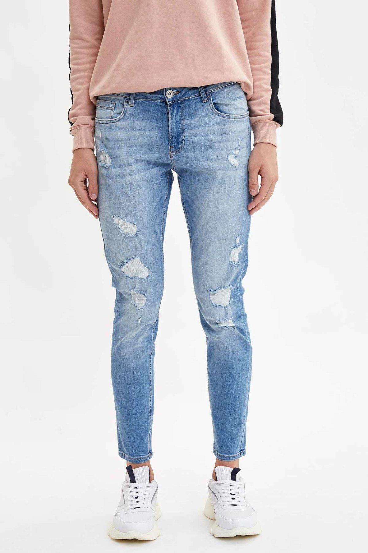 DeFacto Fashion Man Trousers High Quality Male Casual Worn Style Denim Long Pants Simple - L6687AZ19AU