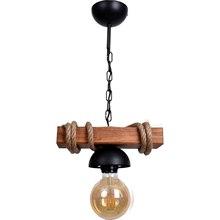 1 sztuk Rustic Roped drewniany żyrandol 2020 lampa oświetleniowa piętro nowoczesne stylowe Home Decor kuchnia balkon przedpokój sypialnia pokój 2021 tanie tanio Kaktüs Kedi TR (pochodzenie) NONE Żyrandole