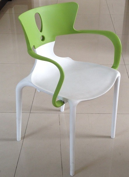 Armchair HANS, Polypropylene White-Green